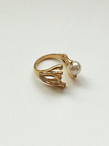Pearl coral Ring [2color]